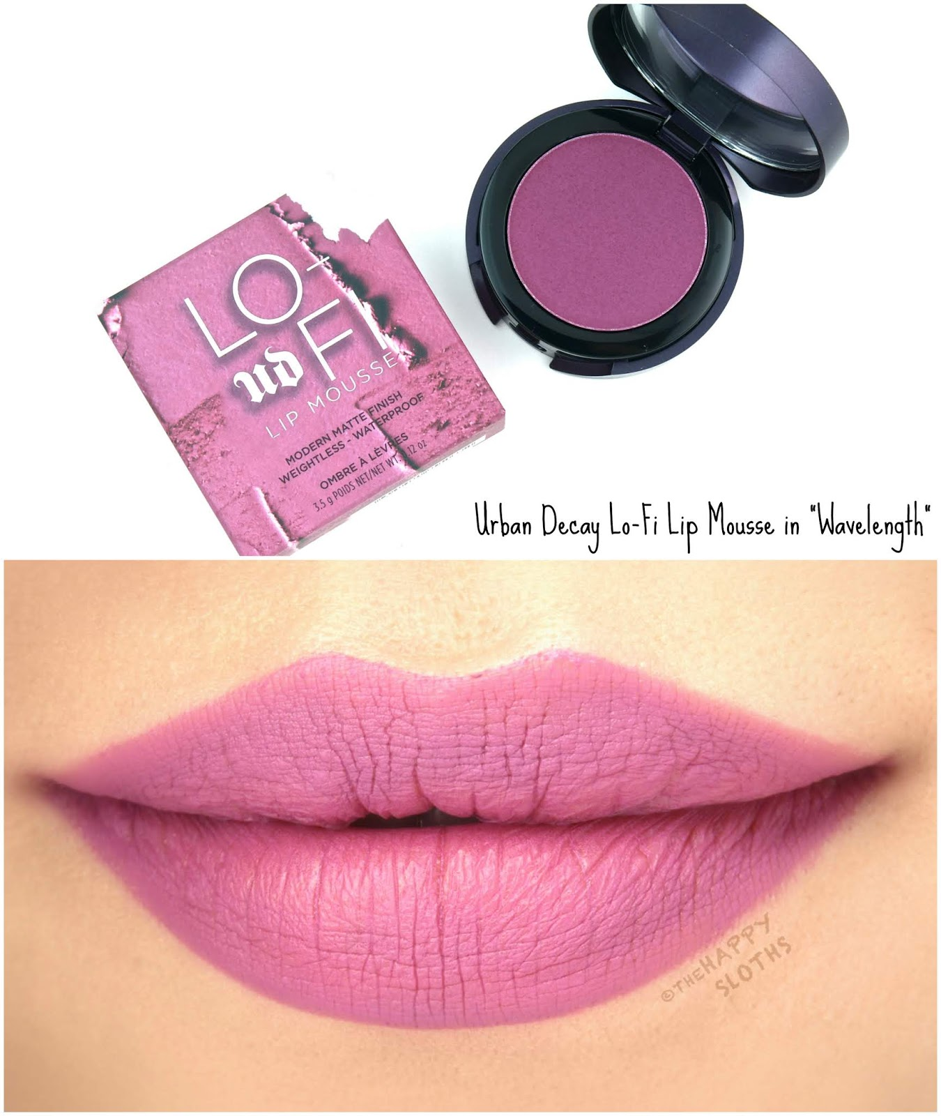 "Urban Decay | Lo-Fi Lip Mousse in ""Wavelength"": Review and Swatches"