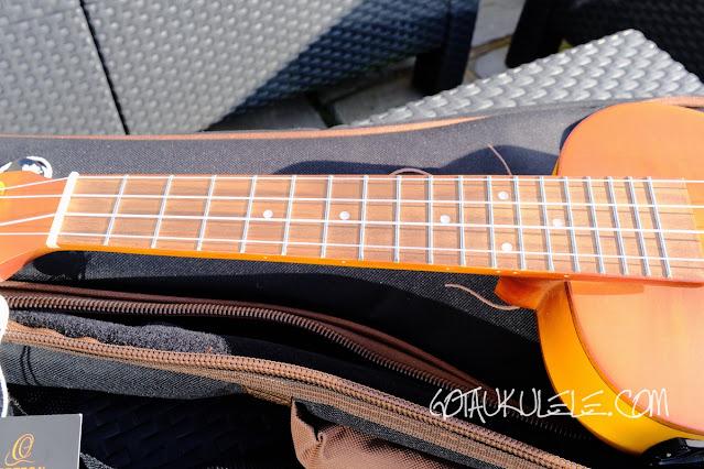 Ortega RUSL-HSB Concert Ukulele fingerboard