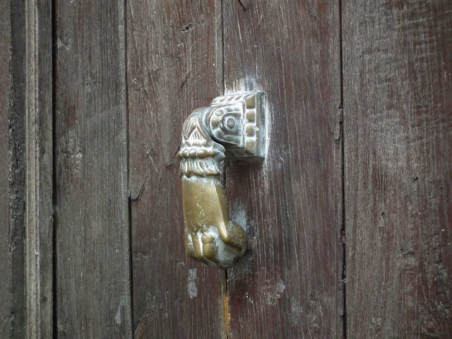 So-called 'Hand of Fatima' door knocker.  Indre et Loire, France. Photographed by Susan Walter. Tour the Loire Valley with a classic car and a private guide.