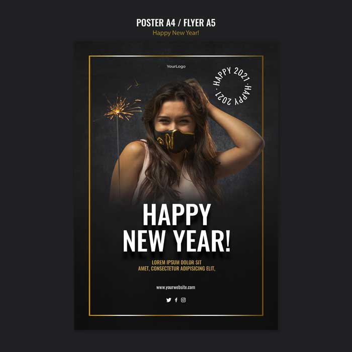 Vertical New Year Celebration Template