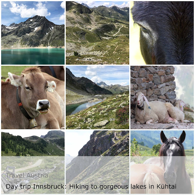 Valley views, horses, lakes, sheep and cows while hiking near gorgeous Kühtai in Austria