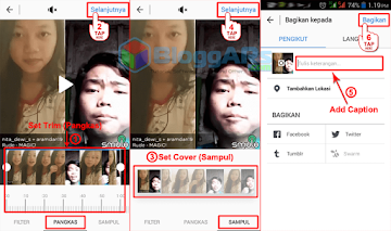 Upload Video Smule ke Instagram