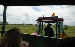 Tractor trailer ride, RSPB Hope Farm open day