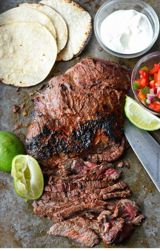 Chipotle-Lime Flank Steak Street Tacos