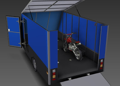 Motorbike loading on a Trailer