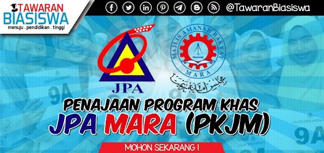 Biasiswa JPA - Permohonan Penajaan Program Khas JPA MARA (PKJM) 2020