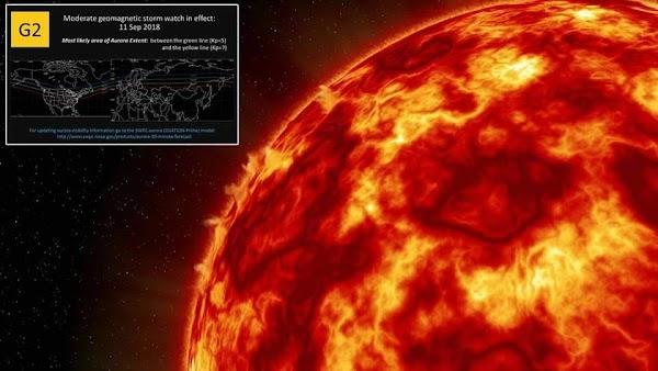 Una nueva tormenta solar se dirige a la tierra....