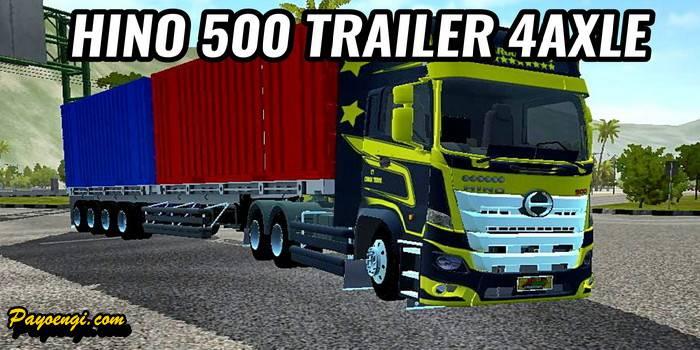 mod hino 500 trailer 4axle