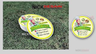 Contoh Desain Logo Olshop Hijau dan Cetak Stiker Label - Percetakan Tanjungbalai