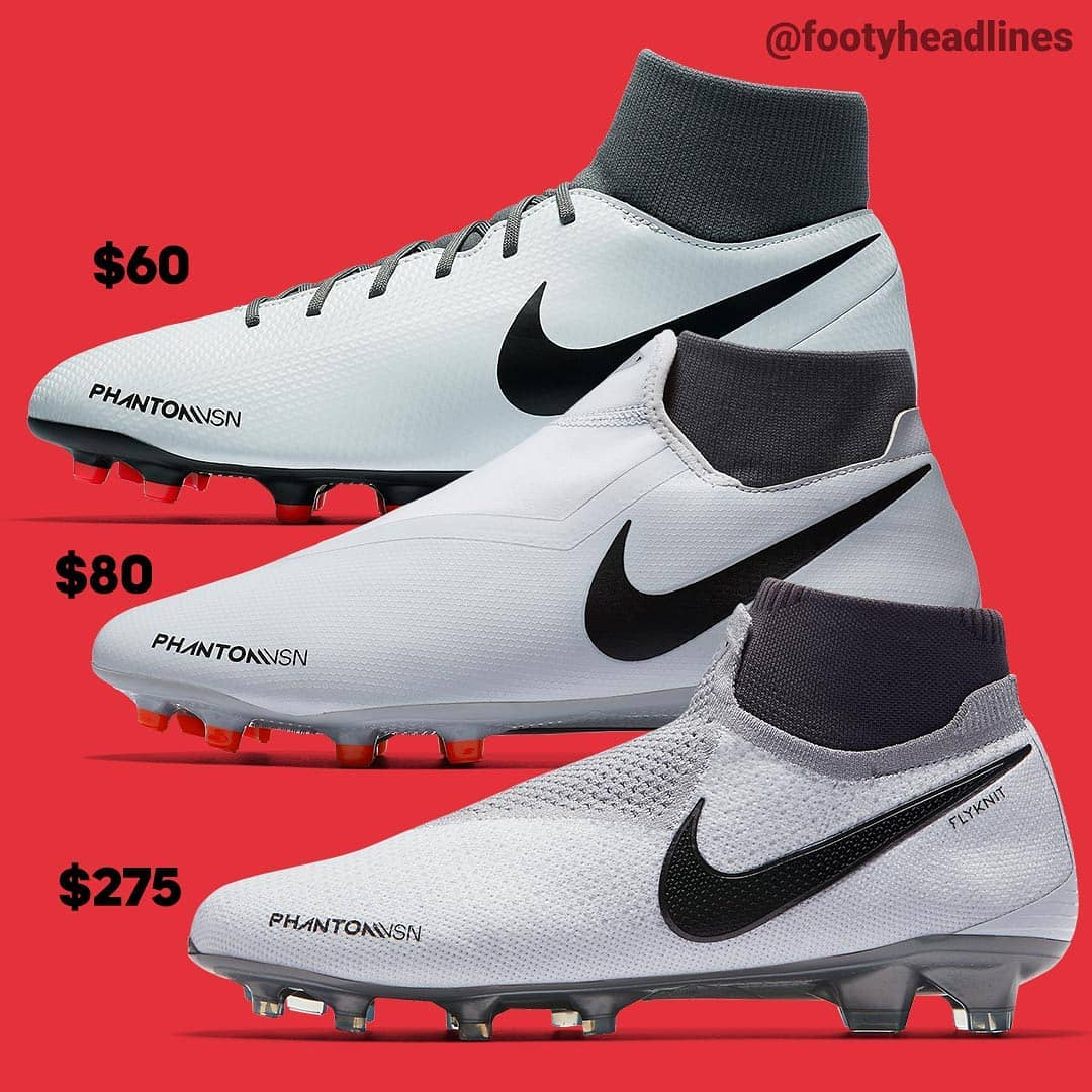 Elite vs Pro vs Academy vs Club  We Compare the Complete Nike ... a0ff23ee8415f