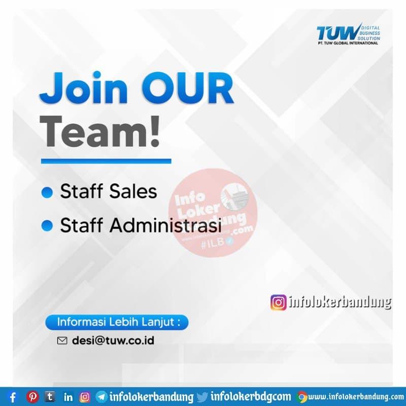 Lowongan Kerja PT. TUW Global International Bandung Mei 2021