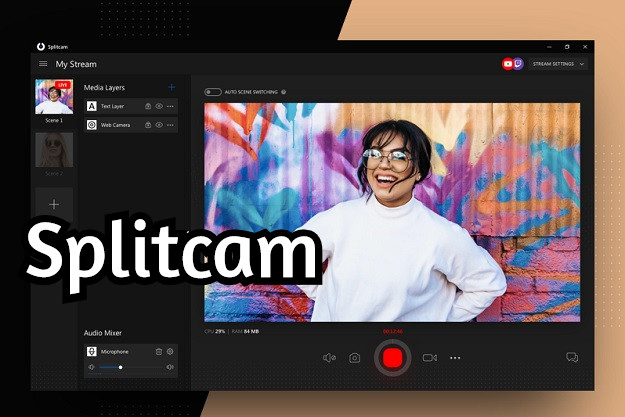Splitcam - Δωρεάν πρόγραμμα για livestream και χρήση της κάμερας του υπολογιστή από πολλες εφαρμογές ταυτόχρονα