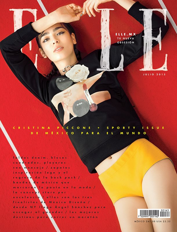 Cristina Piccone covers Elle Mexico July 2015
