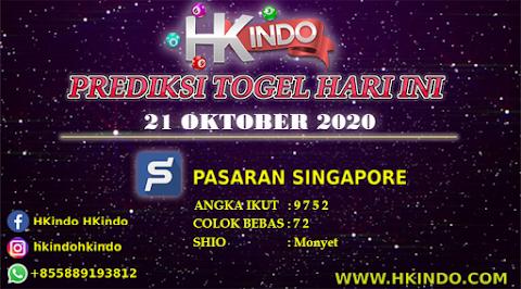 PREDIKSI TOGEL SINGAPORE HARI INI 21 OKTOBER 2020