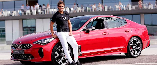 Rafael Nadal estrena un Kia Stinger