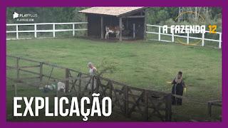 A Fazenda 12 –  Jojo justifica punição – Luiza aconselha Tays e peoa chora