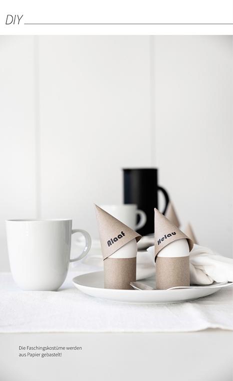 Meine Faschingskostüme aus Papier zum Nachbasteln - die Bastelvorlage findest du im MINIMALmagazin - minimalistisch wohnen und Lben