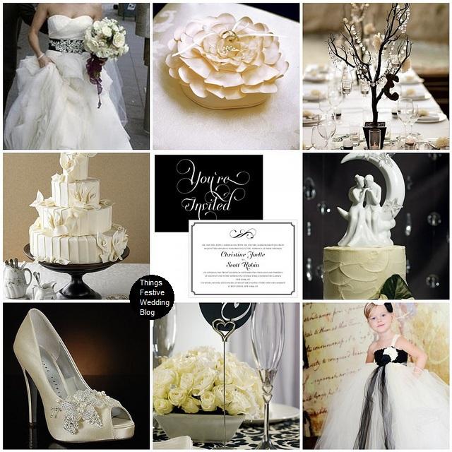White And Black Wedding Ideas: LQ Designs : Things Festive Wedding Blog: Ivory, Black And