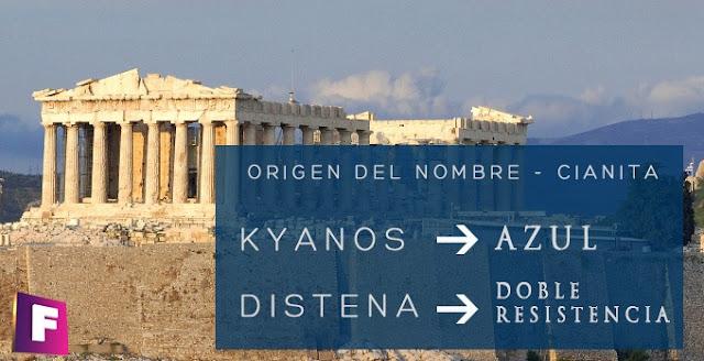 cianita kyanos origen del nombre griego | foro de minerales