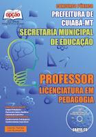 apostila Concurso educação 2015 Professor Pedagogia.