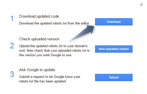 Submit robots.txt file to Google Step2