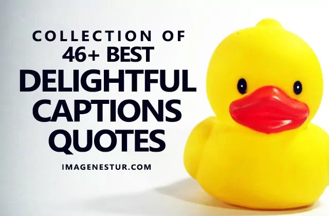 Collection of the best and short delightful captions for Instagram Facebook Tinder and delightful quotes and sayings for delightful pictures and bio.