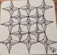 Tangle Diamantbee von Beate Winkler CZT- - Zentangle Trainer Hamburg
