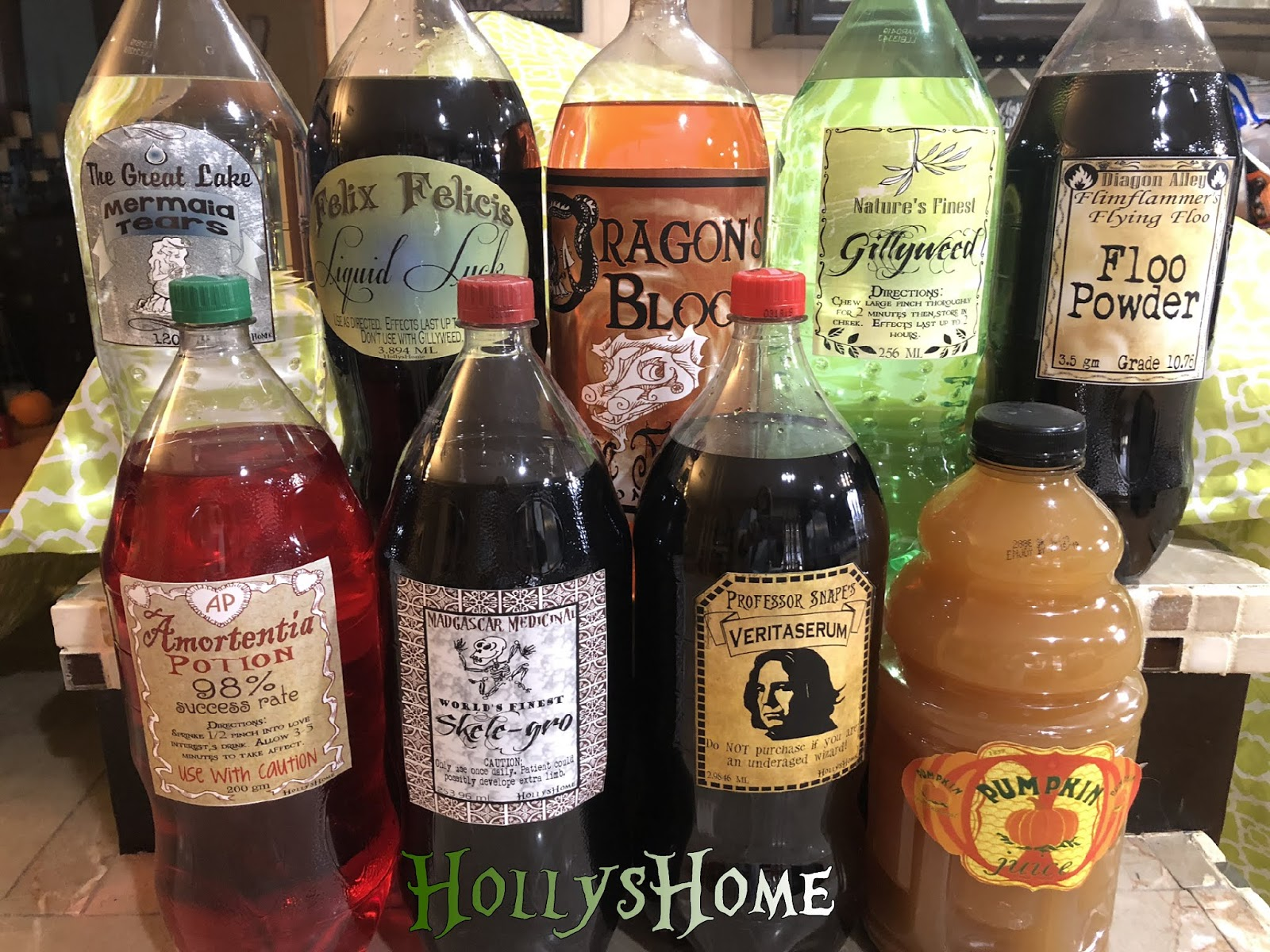 HollysHome Family Life: Harry Potter Potion Labels Free