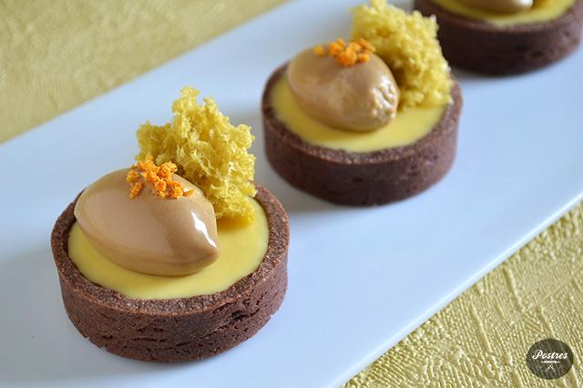 Tartaletas de Fruta de la Pasión, Chocolate y Especias