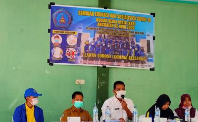 Gelar Seminar Kedua, Mahasiswa KKN STIE Bima Angkat Tema 'Lawan Corona Lindungi Keluarga'