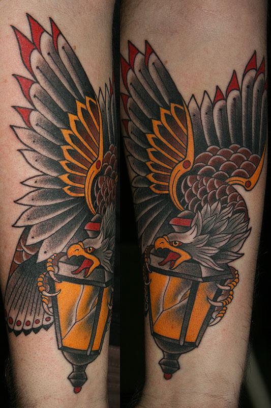 Neo Traditional Girl Tattoo