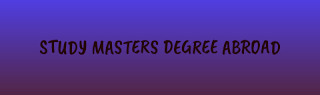 how to apply for masters degree abroad