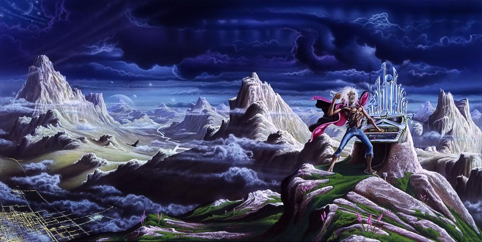 Artwork Heartwork Derek Riggs Iron Maiden Run To The Hills