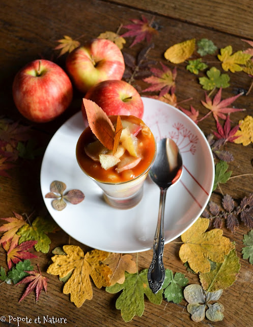 Verrines aux pommes confites et au caramel beurre salé ©Popote et Nature