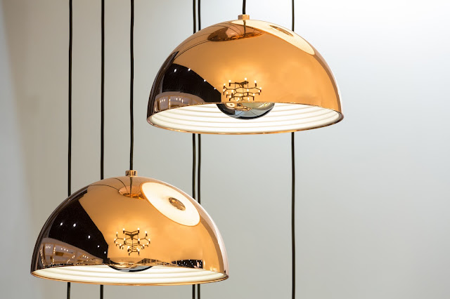Pendant lamps with a metallic, vintage edge is a 2018 lighting trend