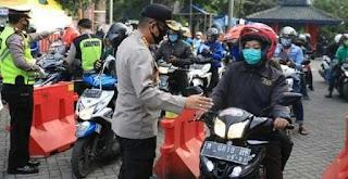 Hari Kesembilan PSBB, Polresta Malang Kota Tegur 1.494 Pelanggar