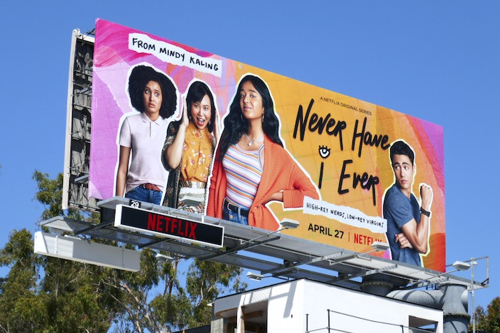 Never Have I Ever series launch billboard