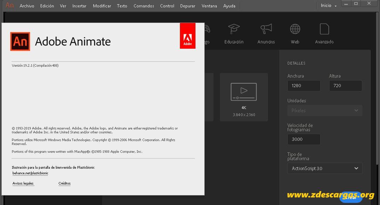 Adobe Animate CC 2019 Full Español