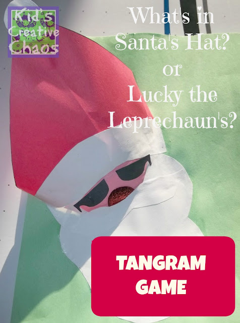 Santa Tangram Game for First Grade Elementary