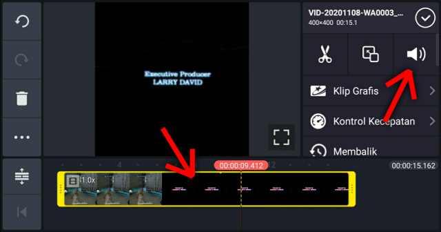 perbesar suara video