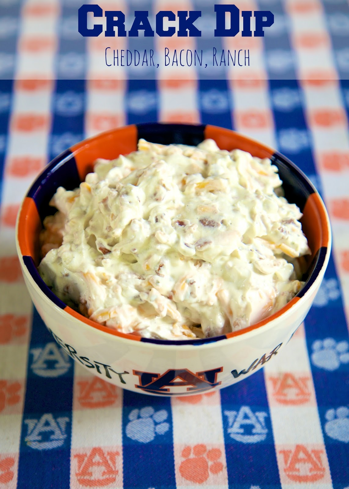 CRACK DIP - Cheddar Bacon Dip - I always double the recipe and there is never any leftovers! People go crazy for this dip!! Sour cream dip loaded with cheddar, bacon and ranch. This dip is crazy addictive!! SO good!