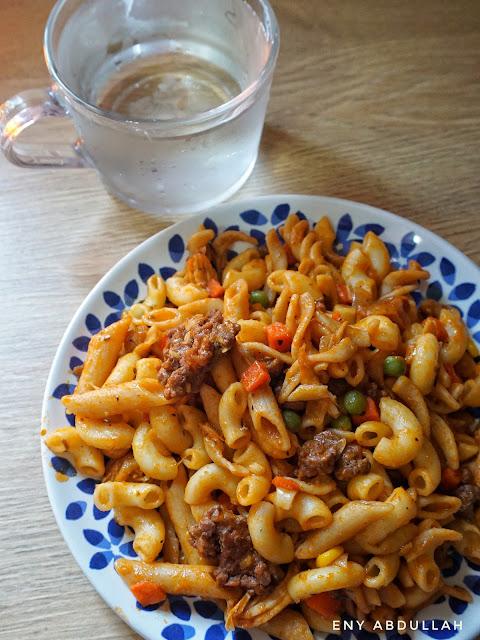 resepi PKP, Lockdown recipe, pasta recipe, mix pasta recipe, fried pasta, pasta goreng