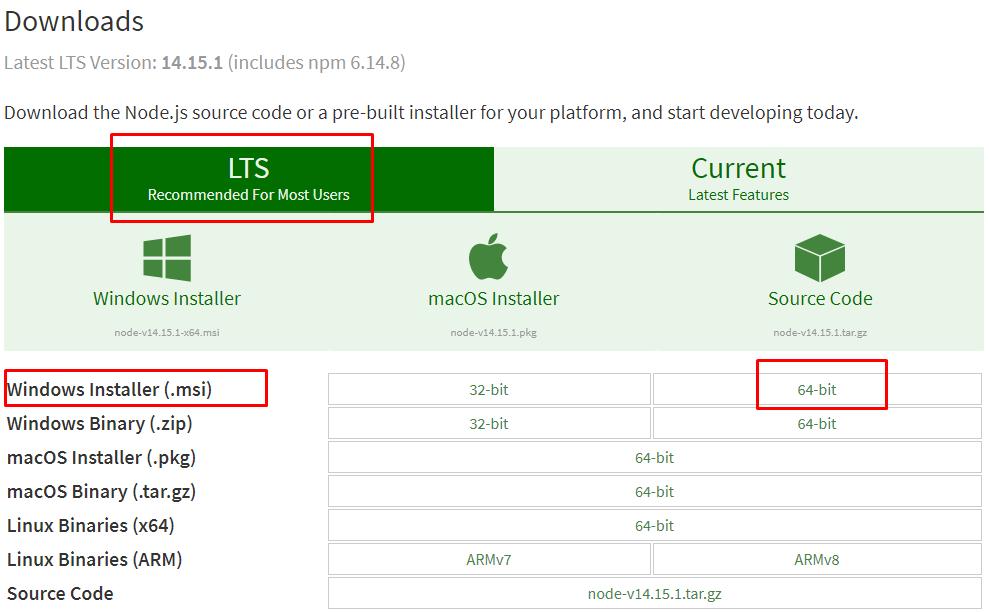 Download Node JS