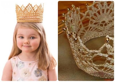 Corona para fiestas infantiles a crochet