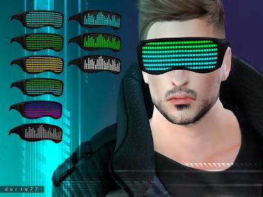 Visor Neon Glasses