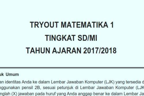 Soal Matematika Usbn Sd 2018 Dan Kunci Jawaban