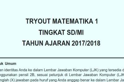 File Pendidikan Soal Matematika USBN SD 2018 dan Kunci Jawaban
