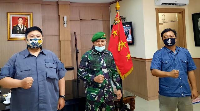 Jurnalis Bela Negara Audiensi Dengan Danpussenif Letjend TNI Besar Harto Karyawan