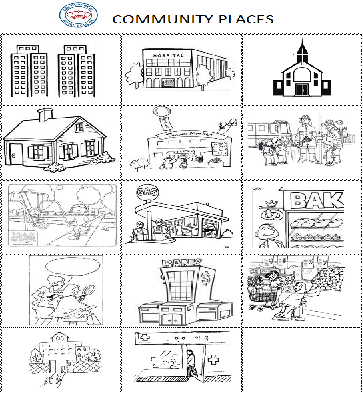 All Worksheets » Community Places Worksheets - Printable ...