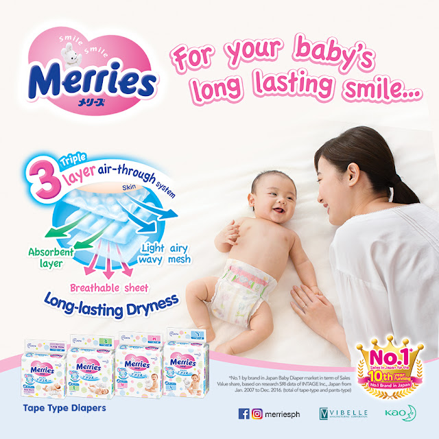Use Merries Tape Diaper For Your Baby's Long Lasting Smile!